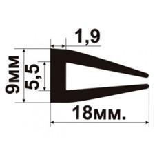 УС-01-06  П-образный Резиновый (TPE) уплотнитель для стекла толщиной 6-7мм