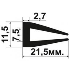 УС-01-07 П-образный Резиновый (TPE) уплотнитель для стекла толщиной 7-8мм