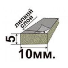 Самоклеющийся резиновый пористый уплотнитель 5х10мм.