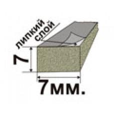 Самоклеющийся резиновый пористый уплотнитель 7х7мм